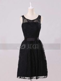 Lace Black Dress Bridesmaid Dress Homecoming Dress by Jecadress, $119.95