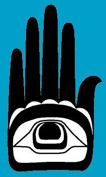 Haida Eye in hand Haida Kunst, Haida Art, Native Art, Native American Art, Haida Tattoo, Haida Gwaii, Show Of Hands, Tlingit, Native Design