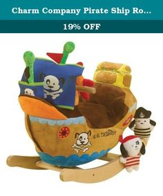 """Charm Company Pirate Ship Rocker with Musical Sound. 82400 Features: -Frame material: Strong wooden. -Requires 2 AA batteries (not included). -Covered with a soft plush fabric. -Wooden handles stick out for child's balance. -Musical sound feature. -Seat height to floor: 9.5"""". Gender: -Boy/Girl. Product Type: -Novelty. Dimensions: Overall Height - Top to Bottom: -17"""". Overall Length - Front to Back: -24"""". Overall Width - Side to Side: -11"""". Overall Product Weight: -8 lbs."""