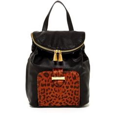Snob Essentials Faux Fur Trim Backpack