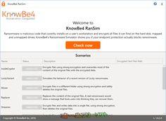KnowBe4 RanSim 1.0.2.4  KnowBe4 RanSim--起動時の画面--オールフリーソフト