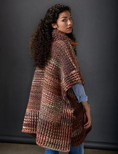 This topper is a must-have fall piece this year - crocheted in Patons Colorwul, this poncho is oversized for a cozy & warm fit.