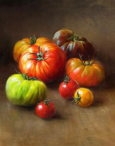 Heirloom Tomatoes Painting by Robert Papp - Heirloom Tomatoes Fine Art Prints and Posters for Sale