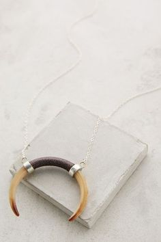 New jewelry arrivals -  #anthroregistry    Horn Crescent Pendant Necklace - anthropologie.com