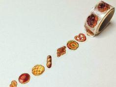 Bread - Round Top Yano Design, Natural Vol.2 - Japanese Washi Masking Tape - Kawaii Collage, Gift Wrapping - JapanLovelyCrafts