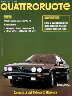 Alfasud Sprint, Poster Vintage, Alfa Romeo, Fiat, Cars And Motorcycles, Basin, Nissan, Automobile, Advertising