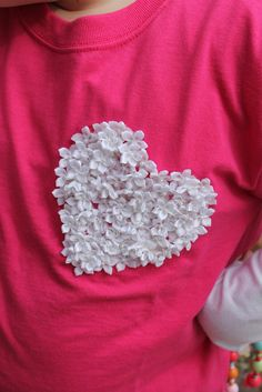 The heart shirt (100 flowers in the shape of a heart for the 100th day of kindergarten!)