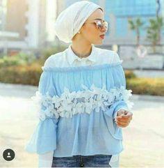 Spring casual outfits for hijabi women – Just Trendy Girls Abaya Fashion, Muslim Fashion, Modest Fashion, Unique Fashion, Fashion Outfits, Fasion, Hijab Turban Style, Hijab Outfit, Modest Outfits