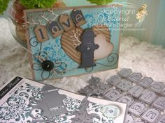 by Stamping with Bibiana: Love Cards for the Guys using stencils and dies from Memory Box