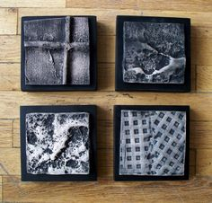 Marie Gibbons - Urban tiles, clay and acrylic paint