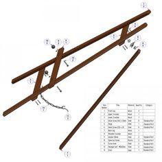 A frame tripod easel plan -  Parts list