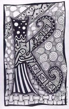 Zentangle Letter M Zebra Letters name bunting by ForeverTangles