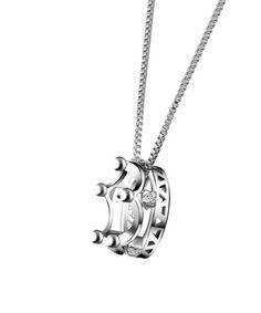 Another great find on #zulily! Swarovski® Crystal & White Gold Crown Pendant Necklace #zulilyfinds