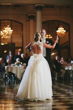 Gorgeous bride and groom, Music Hall Cincinnati