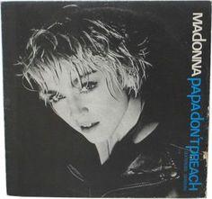 "Madonna - Papa Don't Preach (Vinyl 7"") 1986 Portugal"