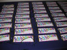 candy bar table cards