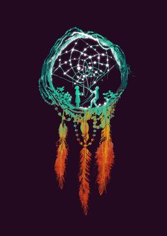 Ein Poster mit dem Motiv DREAM CATCHER (THE RUSTI… von Budi Kwan.