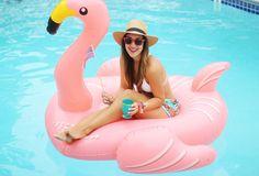 Giant flamingo pool inflatable.