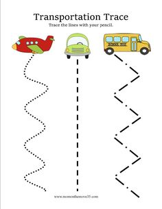 Transportation Activities for Preschoolers is part of Transportation Preschool crafts - Preschoolers love anything that moves! Here are several transportation activities you can do with preschoolers! Book ideas, free printables, and much more! Transportation Preschool Activities, Transportation Worksheet, Preschool Themes, Preschool Lessons, Preschool Worksheets, Preschool Learning, Preschool Crafts, Learning Activities, Teaching