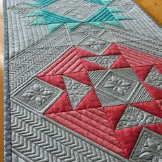 """106 Likes, 13 Comments - Karen Hogan Design (@karenhogandesign) on Instagram: """"Blocks leftover from a quilt. Itching for some modern Quilting...think this has an """"Indian…"""""""
