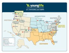 Map of all YoungLife camps