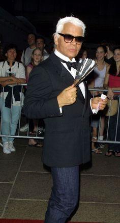 Karl Lagerfeld in 2001