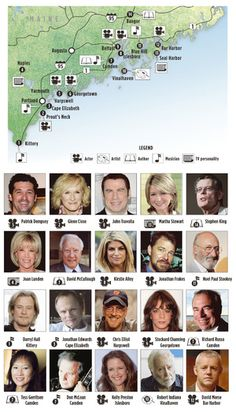 Okay, we all know they're here...at least part time! Here is a list of  celebrities who have houses in Maine.2011
