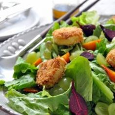 Image for Roasted Beet Salad with Fried Goat Cheese Croutons