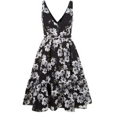 Erdem Gaby Matelassé Floral Dress (74.415 RUB) ❤ liked on Polyvore featuring dresses, flounce hem dress, floral ruffle dress, flower pattern dress, floral dresses and print dress