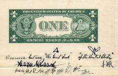 Original design for $1 bill