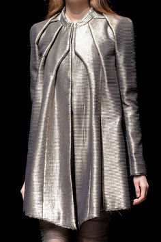 Beautifully structured jacket - tailored metallics; sophisticated futuristic fashion details // Yiqing Yin