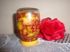Natural hair health beauty : Make your own Rose oil to Firm and smooth skin