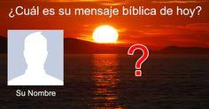 ¿Cuál es su mensaje bíblica de hoy? Movie Posters, Cami, Facebook, Ideas, Names, Stuff Stuff, Messages, Lugares, Home