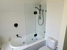 Shower bath combo installed in port Melbourne  Black tapware