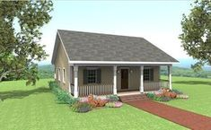 The Bay Springs Cottage Sq. Heated - 1007 Rustic Cottage with nice sized porch is perfect for a Mountain get away, small family or a retired. Cottage Floor Plans, Cottage Style House Plans, Cottage House Plans, Bedroom House Plans, Country House Plans, Small House Plans, Cottage Homes, House Floor Plans, Small House Living