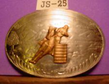 BEAUTIFUL Vintage Comstock Silversmiths Barrel Racing Belt Buckle MAKE OFFER $145.00 or Best Offer Free shipping Item image