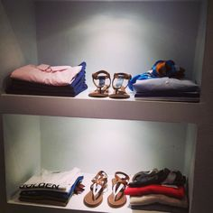 Inside our store it's all about perfection! Perfectly folded shirts, tops, trousers together with matching shoes! #dolcitrame