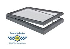 Secured by design opening rooflight suitable for flat and pitched roof applications. Part Q compliant enhanced security rooflight. Kitchen Ceilings, Laminated Glass, Ral Colours, Roof Light, Safety Glass, Electrical Wiring, Technical Drawing, Design