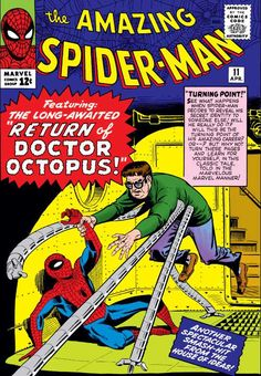 The Amazing Spider-Man #11 - April 1964 cover by Steve Ditko