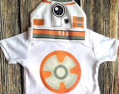 BB8 Baby Costume BB8 Tops BB8 Long Sleeve BB8 Short Sleeve BB8 Coming Home Outfit  BB8 Outfit  Babyshower Gift Baby Girl Gift Baby Boy Gift