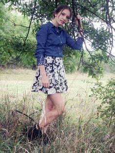 Model summer photography