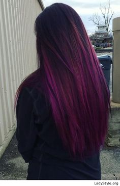 Purple hair color style - LadyStyle