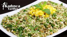 Kuskuslu Yeşil Mercimek Salatası Tarifi   Kadınca Tarifler   Kolay ve Nefis Yemek Tarifleri Sitesi - Oktay Usta