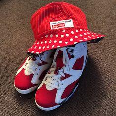 Air Jordan Carmine  Supreme X cdg