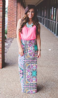 Image of Bohemian Belted Maxi