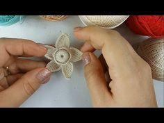 Aprenda Fazer Flor Em Crochê Irlandês! MK Natalia Kotel'nikova - YouTube