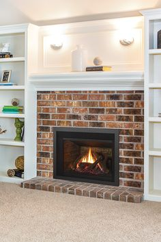 Regency Lri3e Gas Fireplace Insert Inserts Brick Ideas Mantels