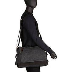 6fdbe17a8 Vagabond Traveler Casual Style Canvas Laptop Messenger Bag - eBags.com
