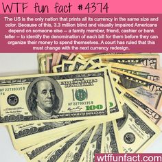 Why the USA should change its currency dimensions. ...Good Luck With That! - WTF fun facts