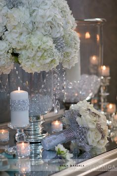 Sparkle + Crystal + White  Wedding Theme